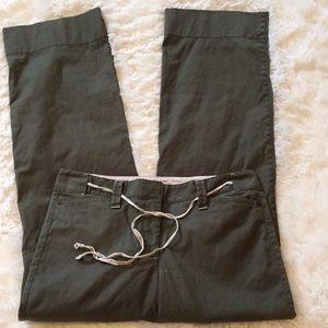 LOFT  bootcut olive green pants size 6